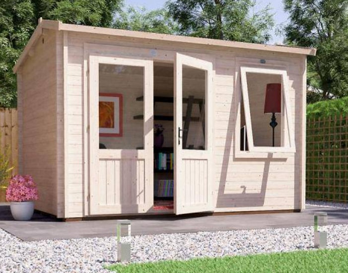 Carsare log cabin 3.5m by 2.5m - assembly included