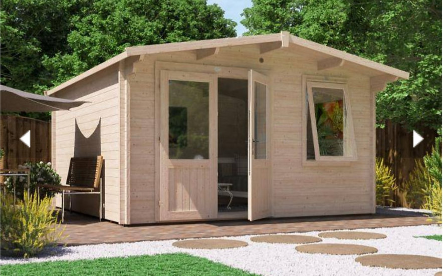 rhine log cabin 4m by 4m - assembly included
