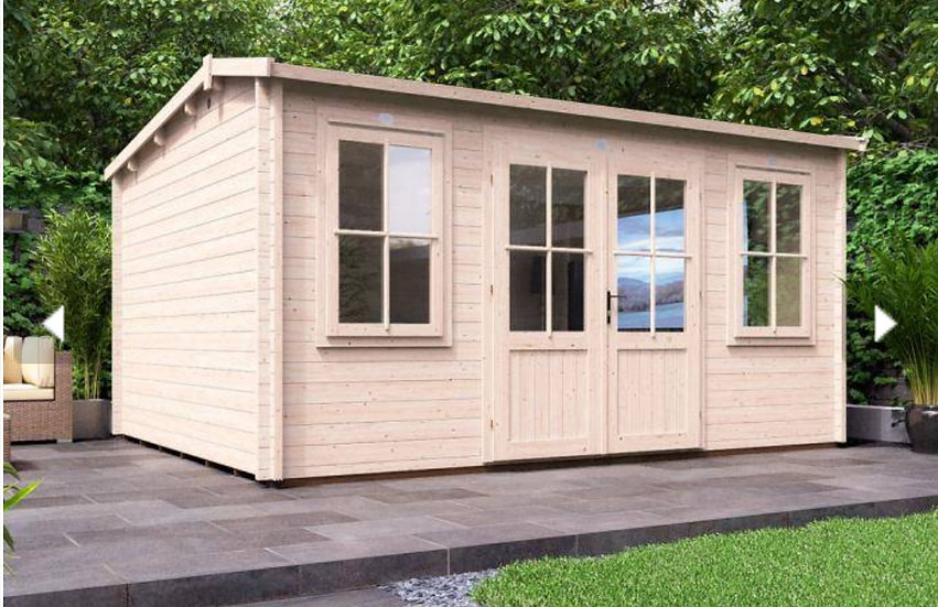lantera log cabin 4.5m by 3.5m - assembly included