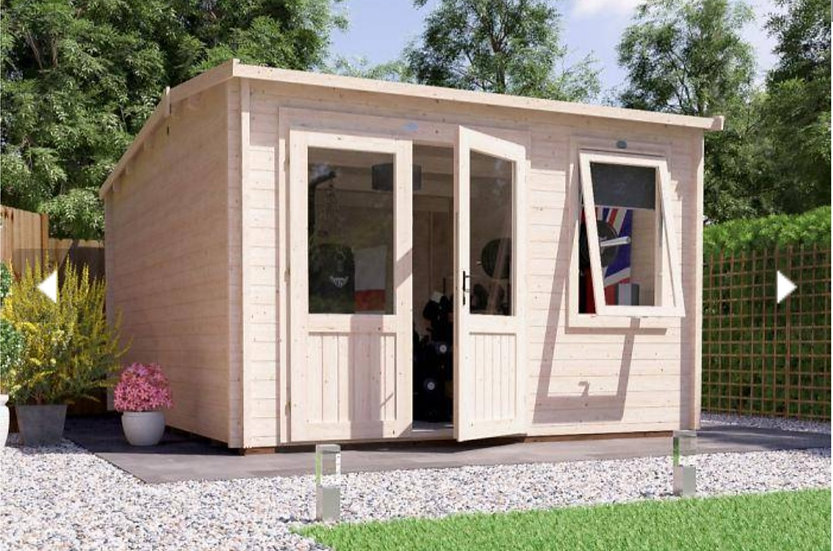 carsare log cabin 3.5m by 4.5m - assembly included