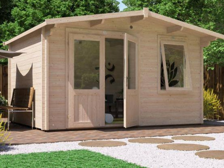 Rhine log cabin 4m by 3m - assembly included