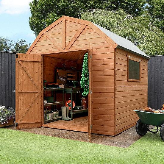 8x8ft Dutch barn style shed