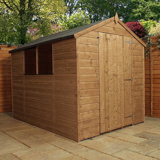 8x6ft tongue and groove apex large door shed