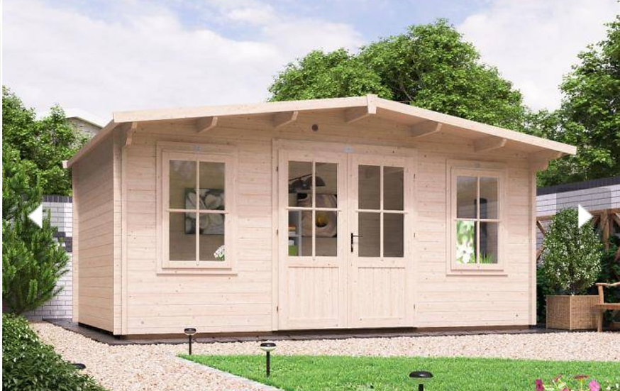 severn log cabin 5m by 3m - assembly included