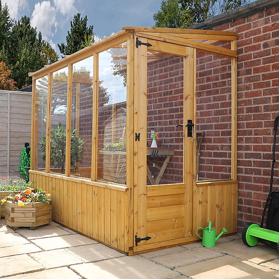 8x4ft lean-too green house