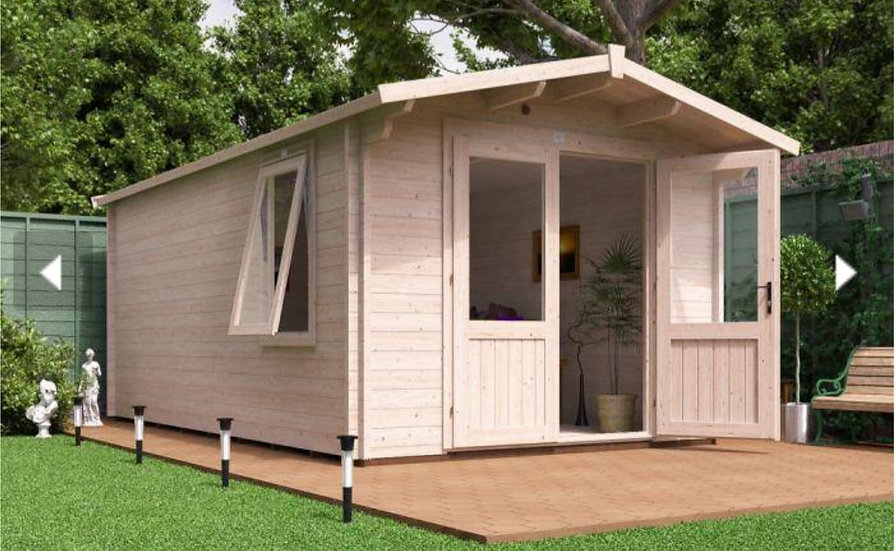 avon log cabin 3m by 5m - assembly included