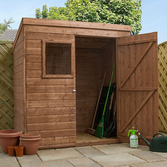 6x4ft pent tongue and groove shed.
