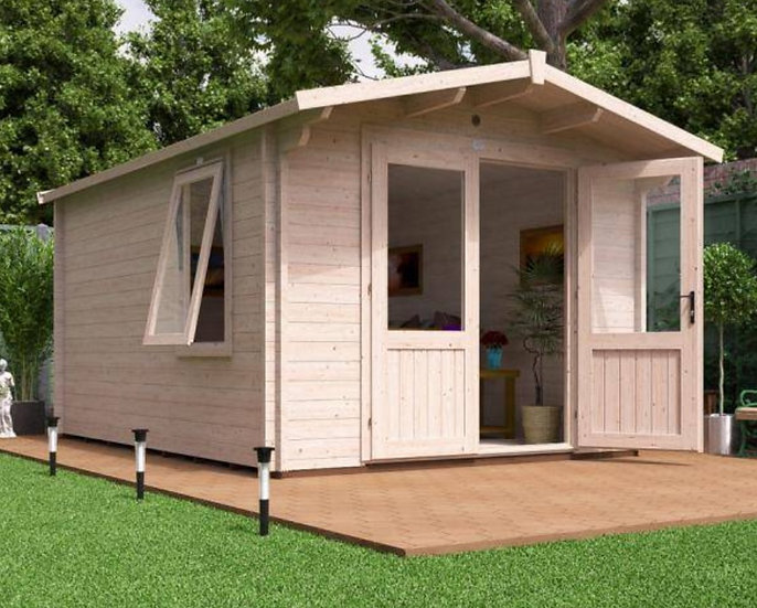 avon log cabin 3m by 4m - assembly included