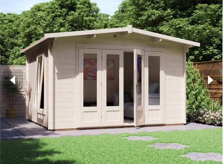 battleclaw log cabin 3.8m by 3.2m - assembly included