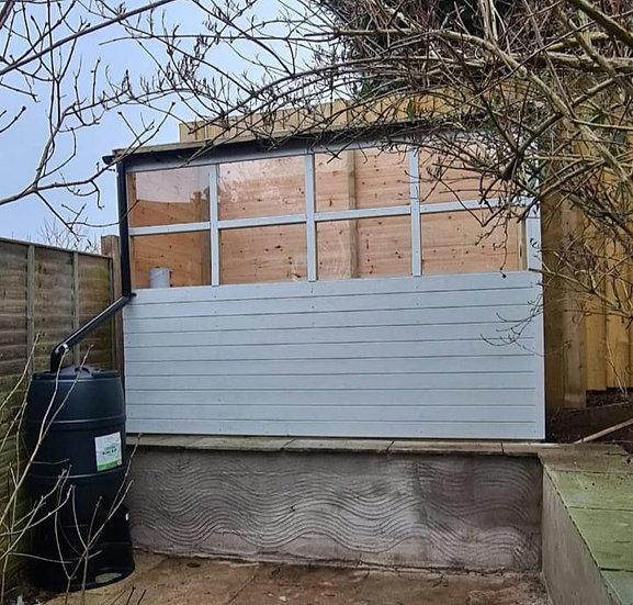 1.8m by 1.8m bespoke green house