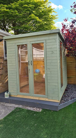 Pent Roof Summerhouse 2.4m by 2.4m