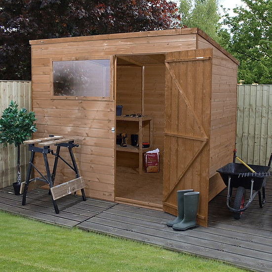 8x6ft tongue and groove pent shed.