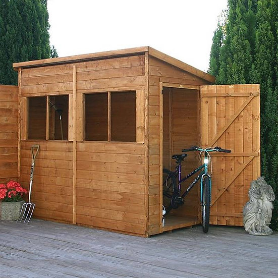 8x4ft tongue and groove pent modular shed