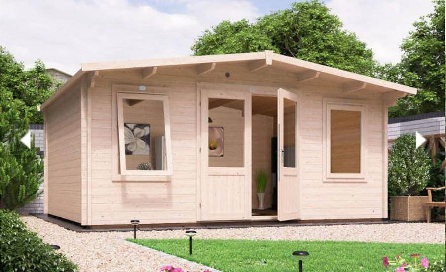 severn log cabin 5m by 4m - assembly included