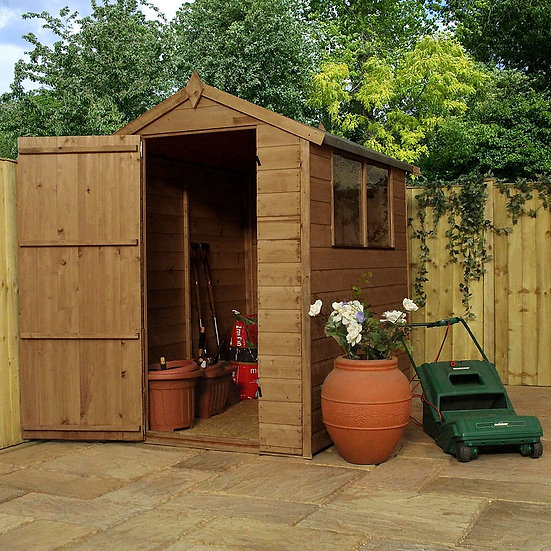 6x4ft Tongue and Groove Timber Shed.