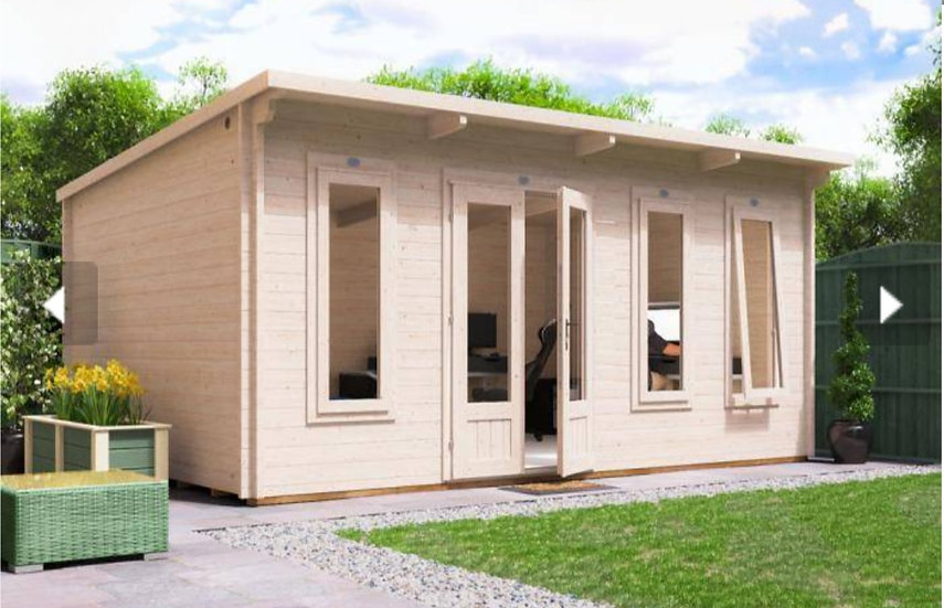 terminator log cabin 5m by 3.5m - assembly included