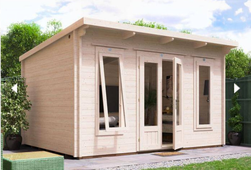 terminator log cabin 4m by 3m - assembly included
