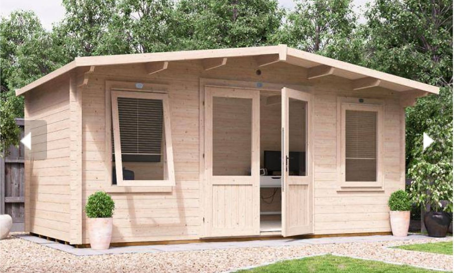 Severn log cabin 5m by 2.5m - assembly included