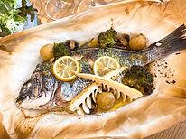 旬魚のパピヨット ディナーセット