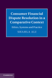 Forthcoming: Consumer Financial Dispute Resolution in a Comparative Context