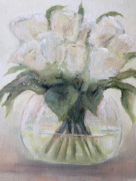 White Flowers in a Vase