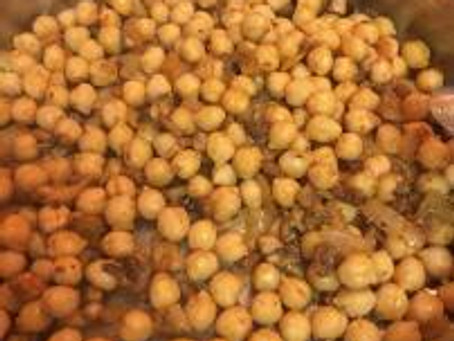 Spiced Chickpeas with Mushrooms