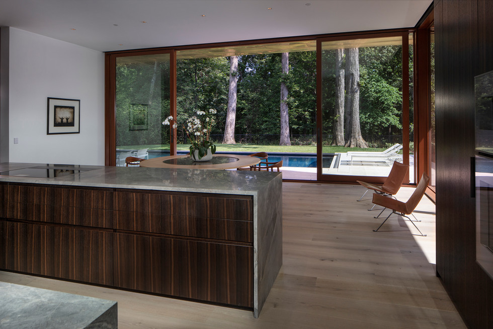 Kitchen Island and Breakfast Room