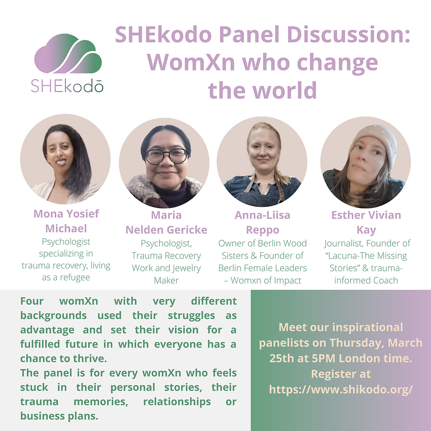SHEkodo panel discussion: WomXn who change the world