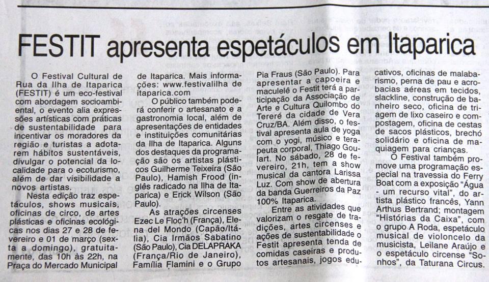 Yoga Thiago FESTIT Tribuna da Bahia
