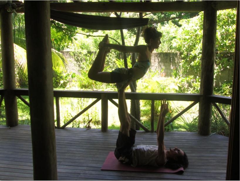Acro-yoga com Eva Lopez