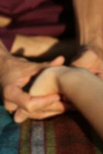 massagem da mão