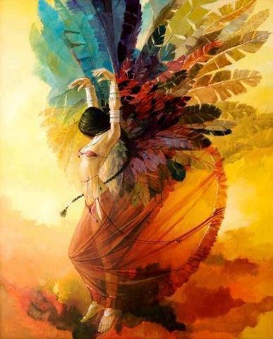 Vôo da mulher-pássaro
