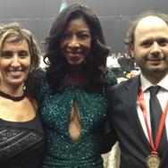Vicky Barranguet, Natalie Cole and Gustavo Casenave