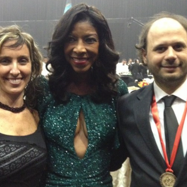 Vicky Barranguet, Natalie Cole and Gustavo Casenave
