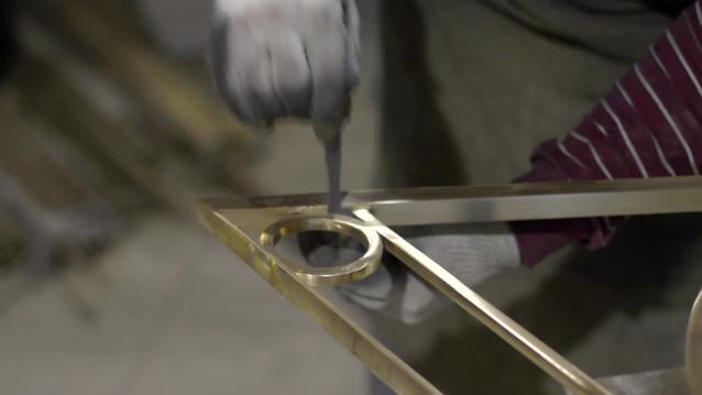 Производство латунного ограждения
