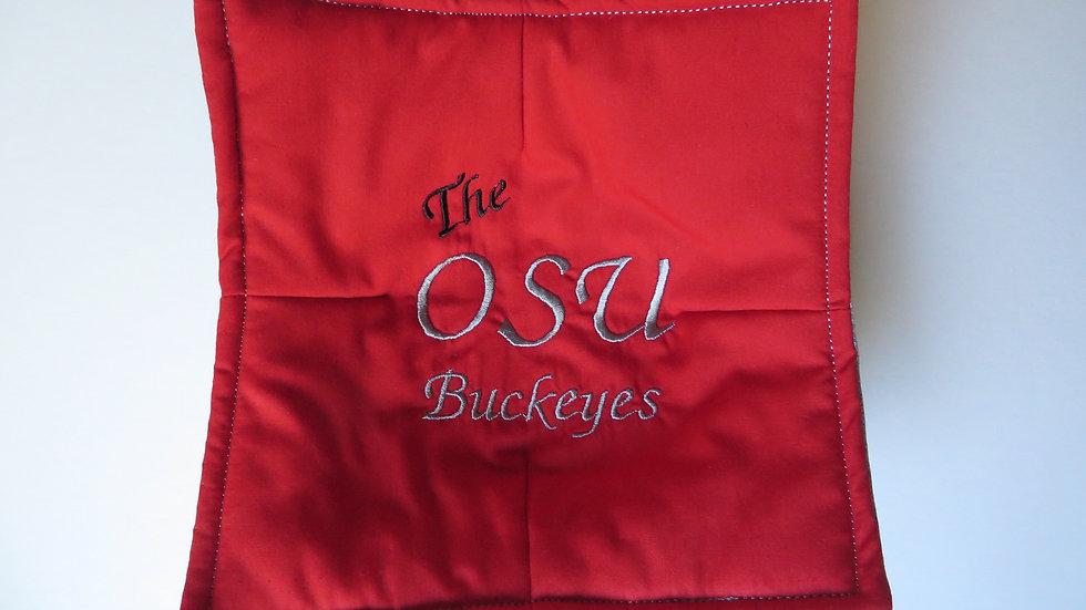 Microwave Potholder- Scarlet OSU Buckeyes