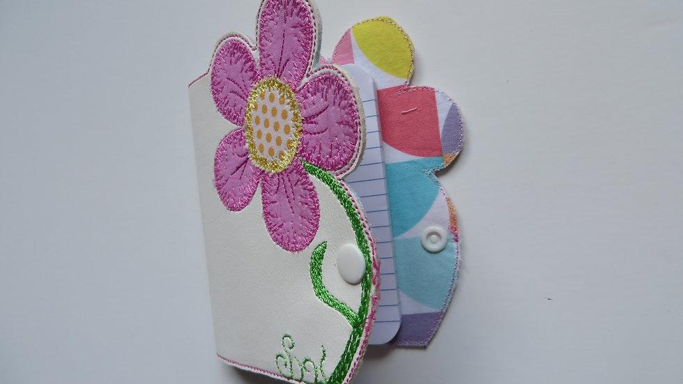 Flower design notepad cover