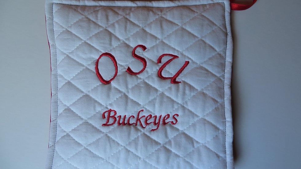 OSU Buckeyes Potholder- Scarlet