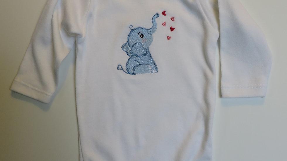 Long-sleeve Valentine onesie