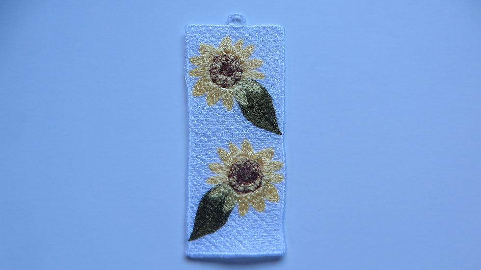 Lace Sunflower Bookmark