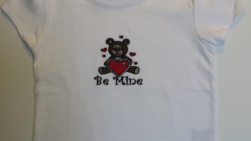 White Girl's Valentine Shirt