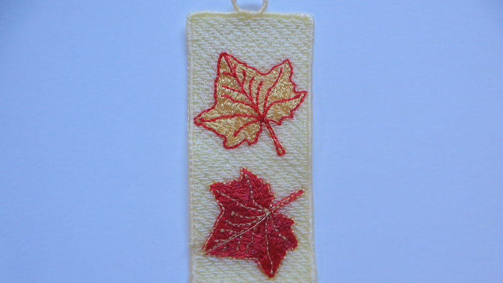 Lace Bookmark- Fall Leaves