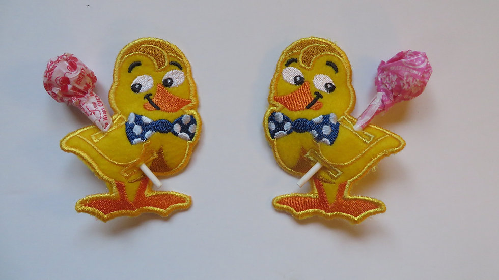 Easter Duck with lollipop