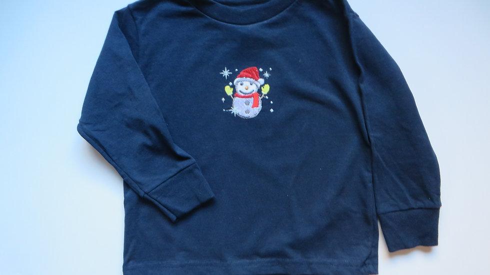 Embroidered Winter Shirt, size 4T, dark blue