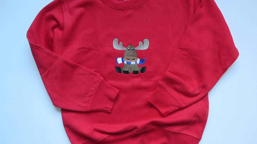 Embroidered Moose Sweatshirt, size 5/6