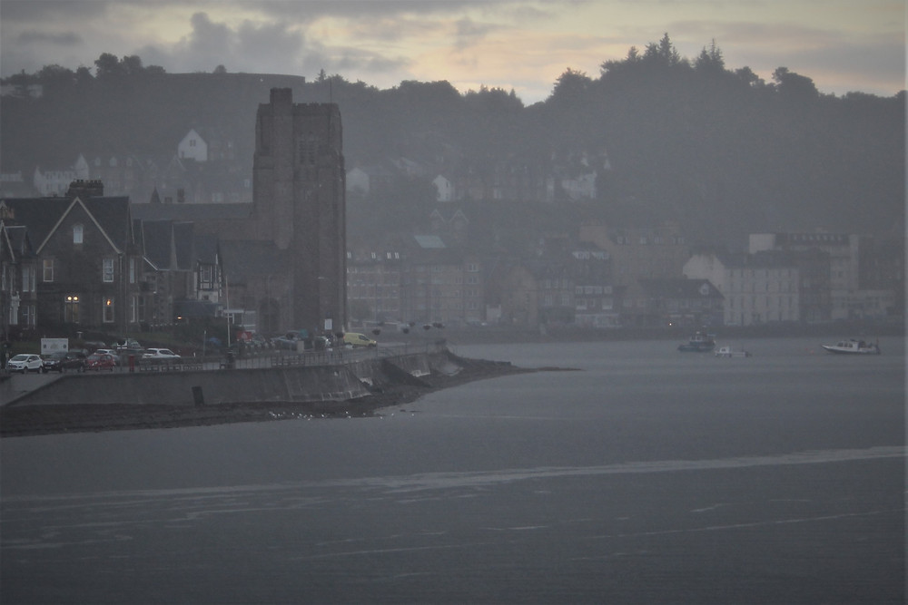 St Columba Cathedral from a Calmac ferry at an ungodly hour of the morning.