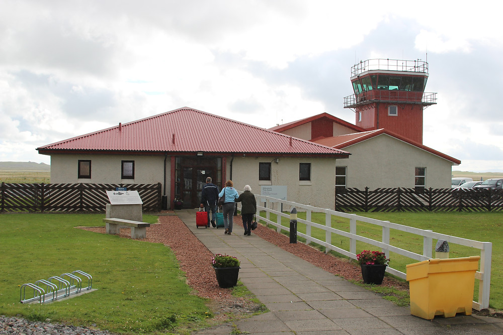 Tiree Airport.  It was a weather report from an aircraft flying from here 73 years ago that saw the weather window that confirmed that D Day would be the 6th Jun.