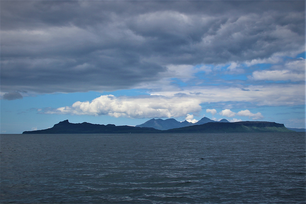 Rum craddled in the arms of Eigg