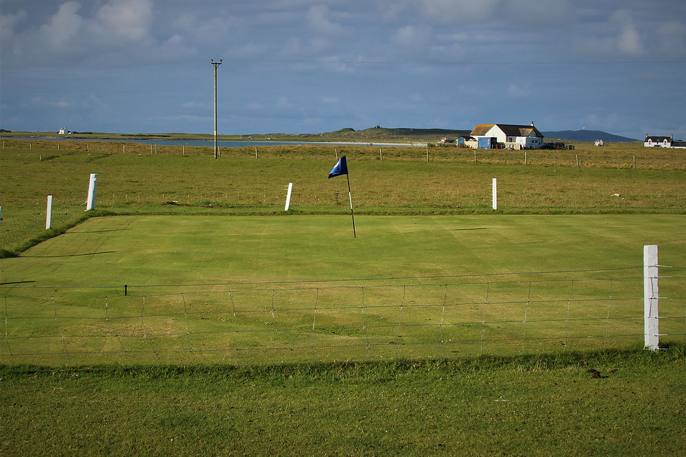 The golfers on Tiree need fairly good fence chipping skills.