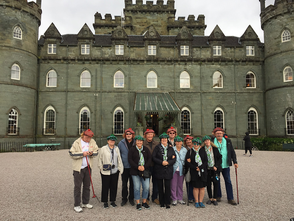 Cruise ships to castles and the wee-jimmy hats are optional